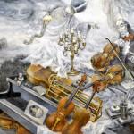 Five Paganini Violins, 16x20, 2011