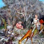 Sancho's Self-Flagellation 16X12 2001