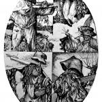 Scarecrow-Quadriptich-9X12